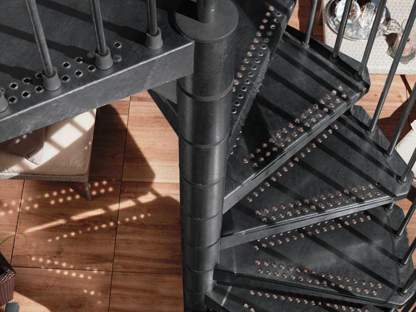 Außentreppe Steel Zink Syk Lava-Anthrazit Edition