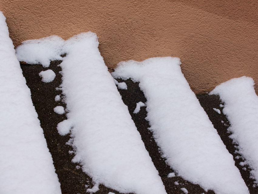 Treppe bei Schnee