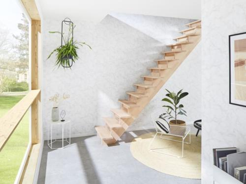 Holztreppe Intercon Nizza | gerader Verlauf | ohne Geländer