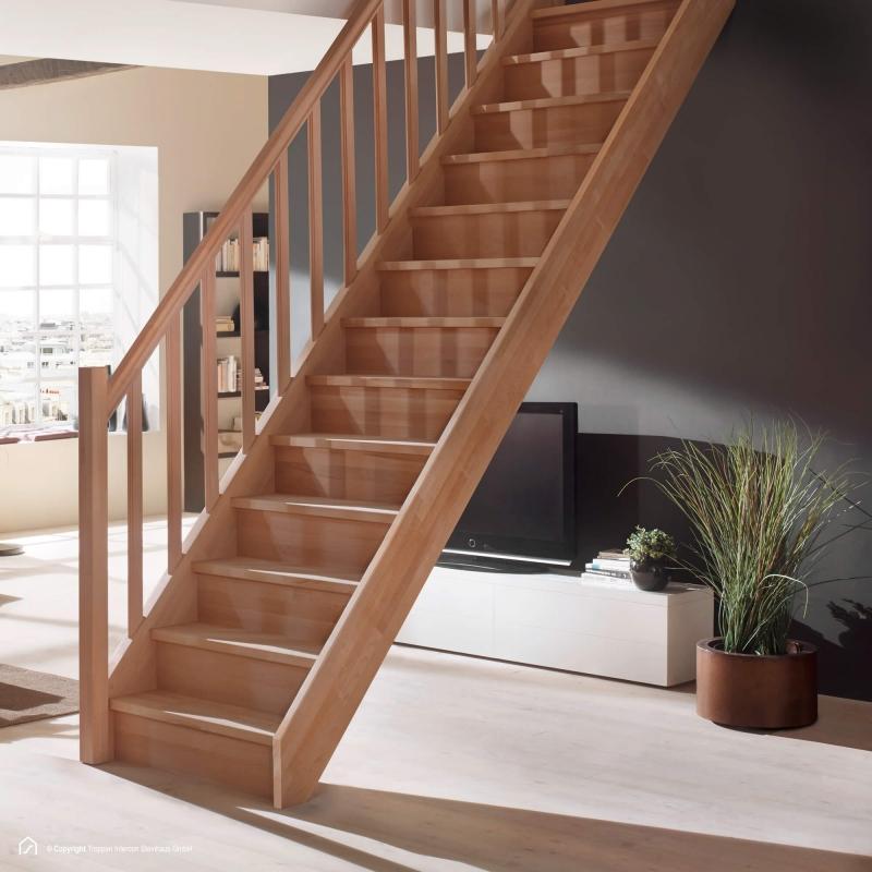 Massivholztreppe Intercon® Savoy | gerader Verlauf