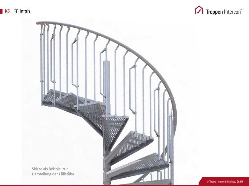 Füllstab für Geländer der Außentreppe Intercon® K2