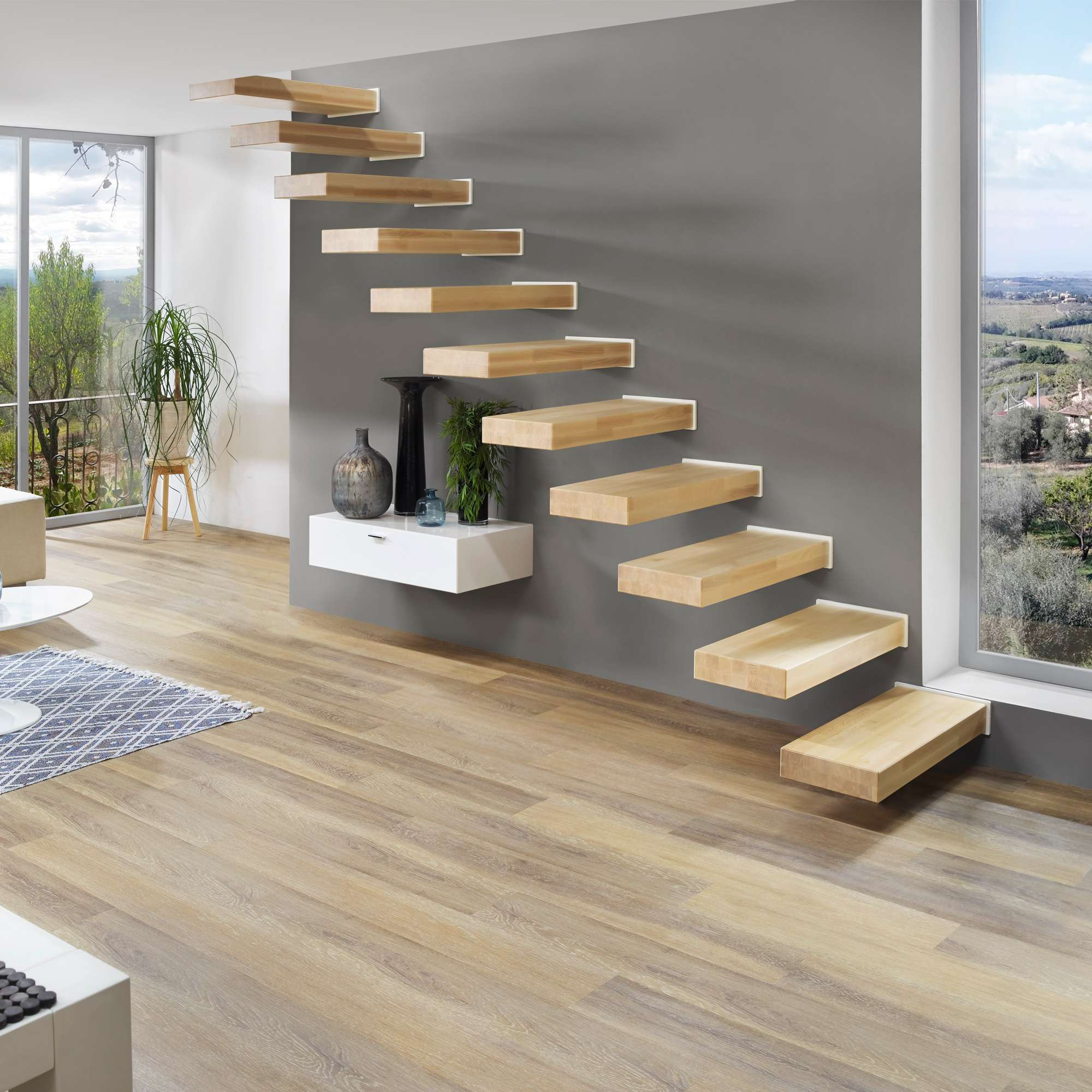 kragarmtreppen schwebetreppen treppen intercon. Black Bedroom Furniture Sets. Home Design Ideas