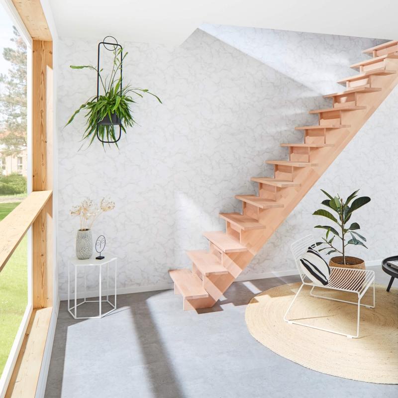 Holztreppe Intercon® Nizza | gerader Verlauf