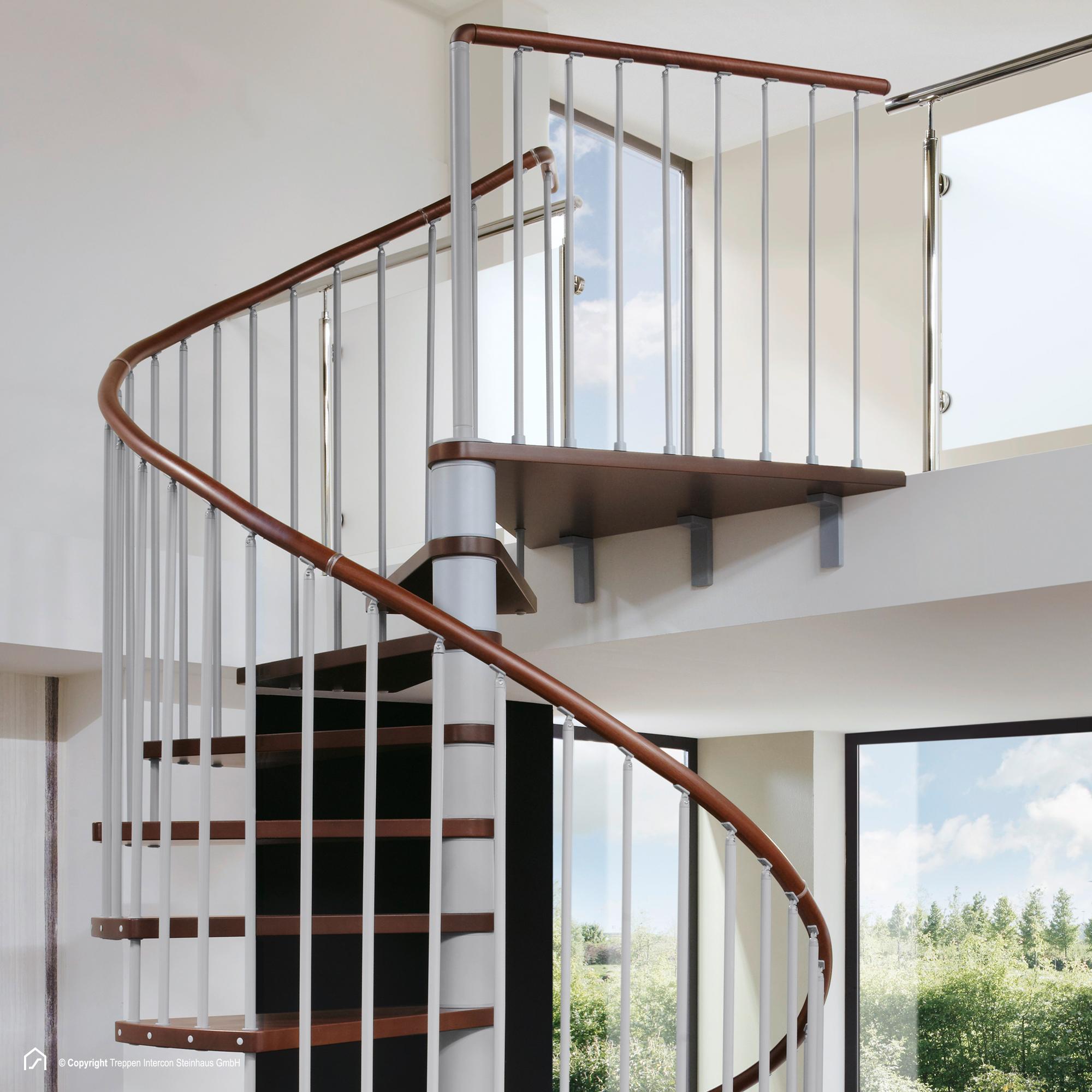 spindeltreppe intercon viva raumsparende wendeltreppe. Black Bedroom Furniture Sets. Home Design Ideas