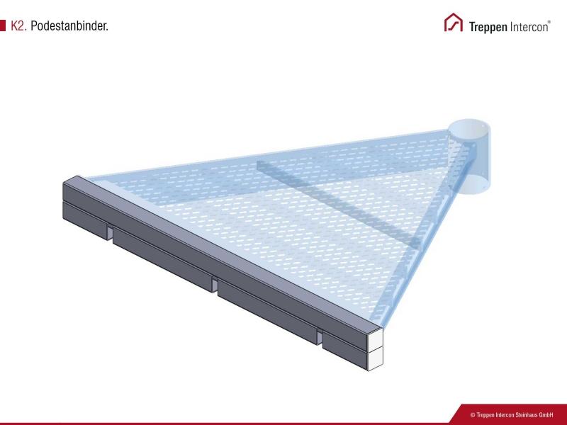 Podestanbinder für Außentreppe Intercon® K2 | Premium Edition