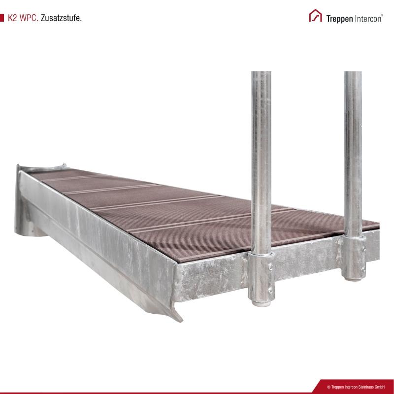 Zusatzstufe für Außentreppe Intercon® K2 | WPC Edition
