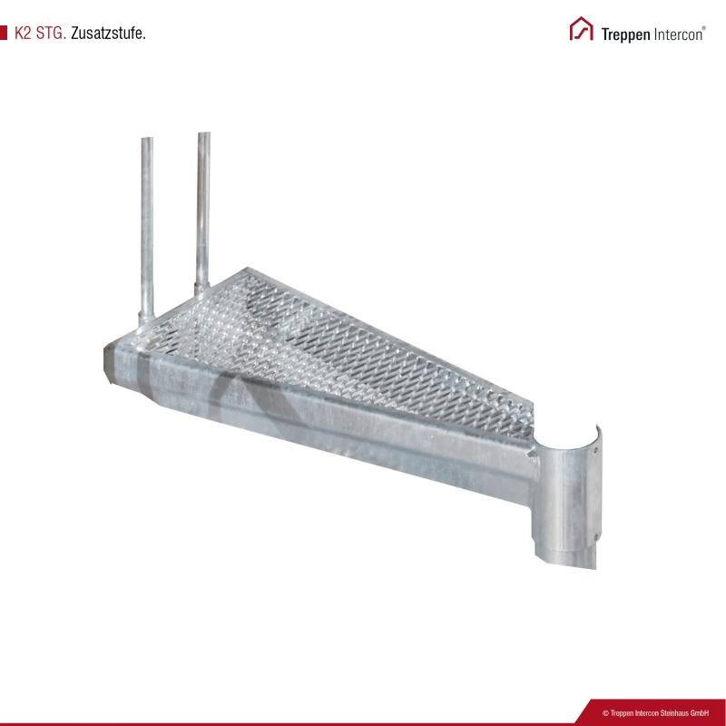 Zusatzstufe für Außentreppe Intercon® K2 | Streckgitter Edition