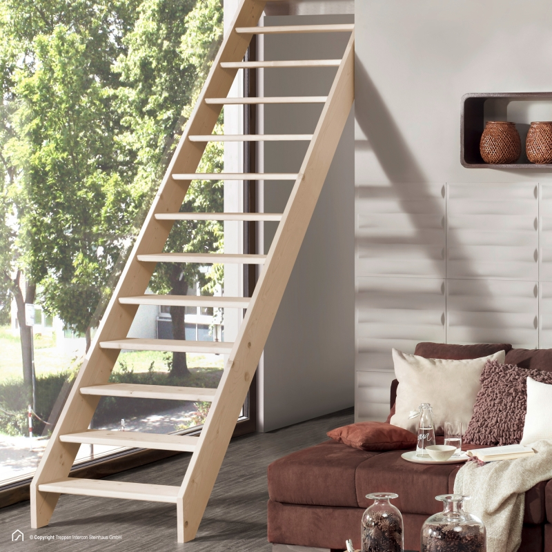 Holztreppe Intercon® Casablanca | gerader Verlauf