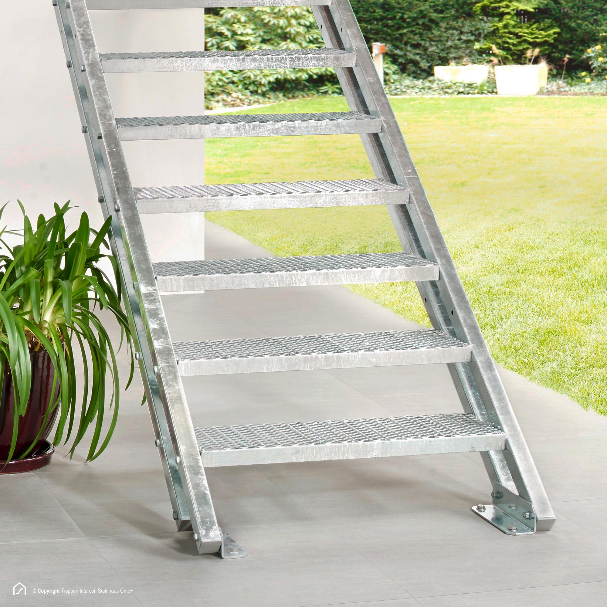 metall au entreppe stahltreppe mit 13 stufen zum top preis. Black Bedroom Furniture Sets. Home Design Ideas